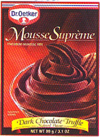 Dr. Oetker Mousse Supreme, Dark Chocolate Truffle