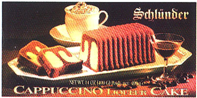 Schlünder Cappuccino Cake in box, 14oz/400g