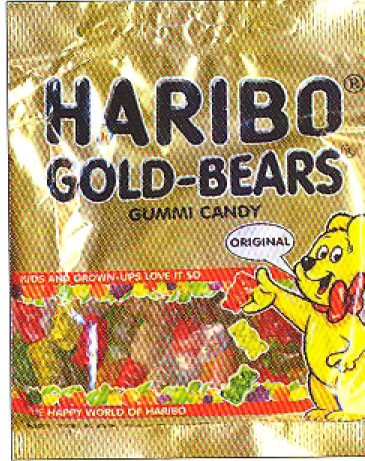 Haribo Gold Bears Gummi Candy in bag, 200g