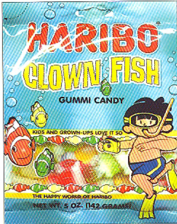 Haribo Clown Fish Gummi Candy in bag, 142g