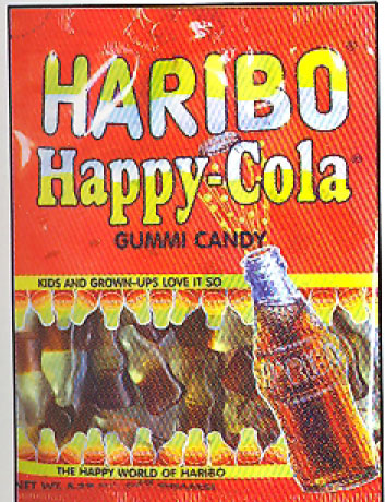 Haribo Happy Cola Gummi Candy in bag, 200g