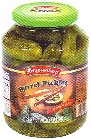 Hengstenberg Knax Crunchy Barrel Pickles