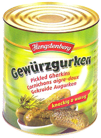 Hengstenberg Deli Gherkins (Bulk) in Large Tin 55-60 count