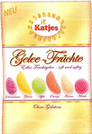 Katjes Mixed Jelly Fruit in bag, 200g