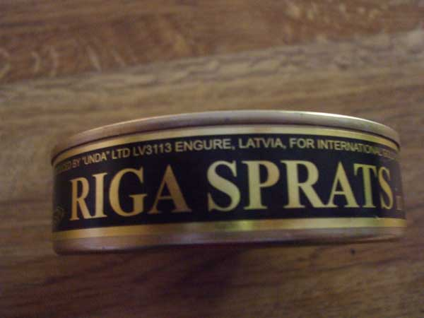 Riga Sprats in oil, 5.6oz, Latvia