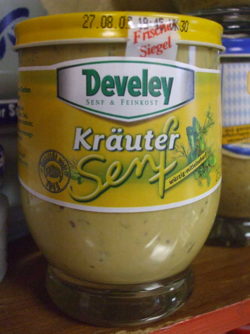 Devely Kraeuter Senf, 250 ml