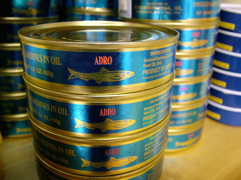 Adro Smoked Sardines in Oil, 5.6oz/260g