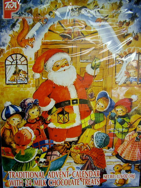 Traditional Advent Calendar - Santa's Workshop