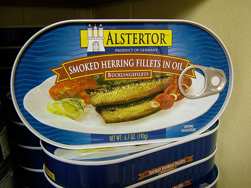 Alstertor Smoked Herring Fillets in Oil, 6.7oz/190g