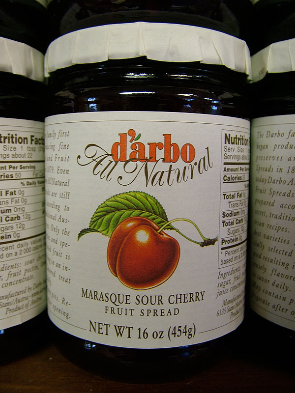 Darbo Marasque Sour Cherry Fruit Spread