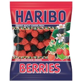 Haribo Berries Gummi Candy in bag, 200g