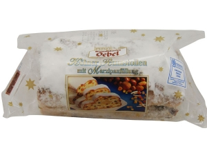 Konditorei Oebel Confectionery Rumstollen with marzipan filling