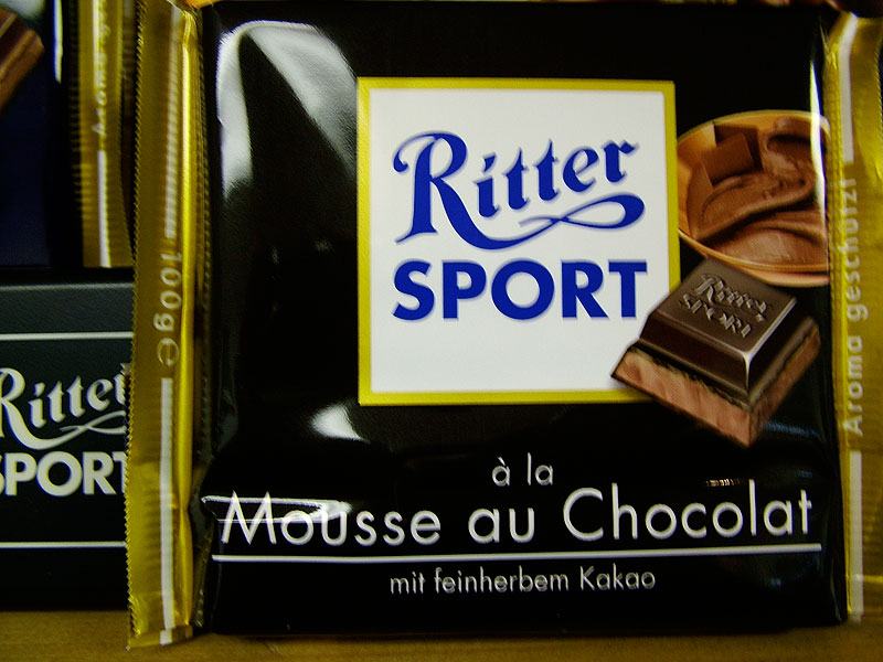 Ritter Dark Chocolate with Chocolate Mousse (Mousse au Chocolat)