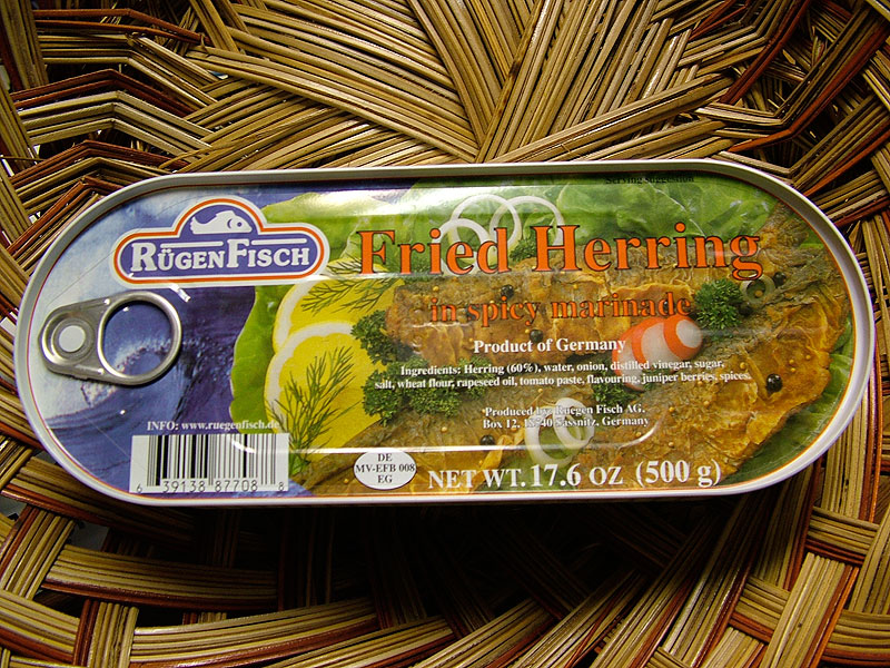 RügenFisch Fried Herring in Spicy Marinade, 17.6oz/500g